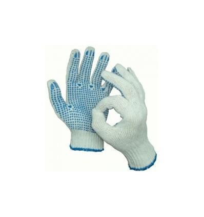 Перчатки ПВХ 4-х нитка Точка (белая, черная, графит)