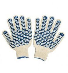 Перчатки ПВХ 5-ти нитка Волна/Протектор (белая, черная, графит)