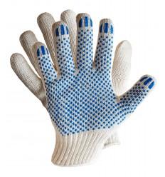 Перчатки Х/Б с ПВХ  6-ти нитка (белая, черная, графит)